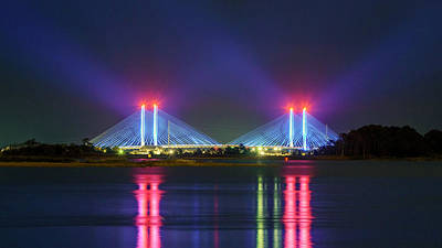 Photograph - Indian River Inlet Bridge by Rob Sellers