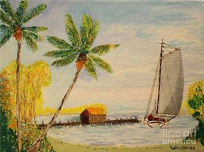 Painting - Indian River Mail Sloop 1908 by Bill Hubbard