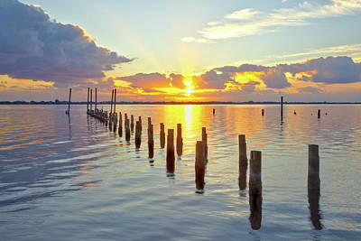 Photograph - Indian River Sunrise by Gordon Elwell