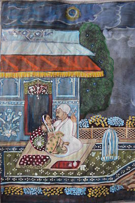 Painting - Indian Romance by Vikram Singh