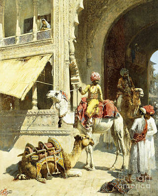 India Painting - Indian Scene by Edwin Lord Weeks