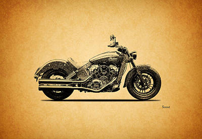 Indian Scout 2015 Art Print by Mark Rogan