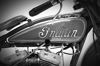 Transport Photograph - Indian Scout Detail by Mark Rogan