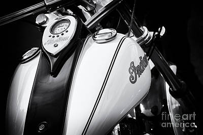 Indian Scout Gas Tank Art Print by Tim Gainey