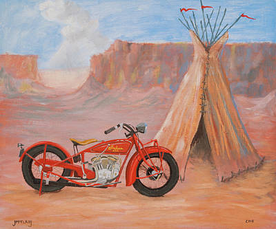 Painting - Indian Scout by Jerry McElroy