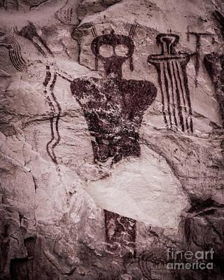 Photograph - Indian Shaman Rock Art by Gary Whitton