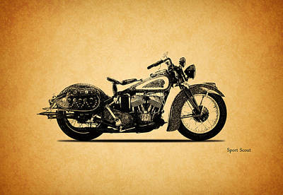 1939 Photograph - Indian Sport Scout 1939  by Mark Rogan