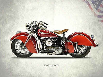 Photograph - Indian Sport Scout 1940 by Mark Rogan
