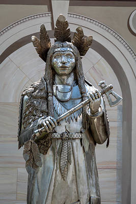 Photograph - Indian Statue by Jack R Perry