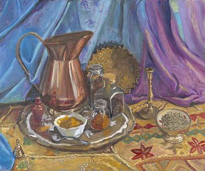 Wall Art - Painting - Indian Still Life by Katherine Farrell