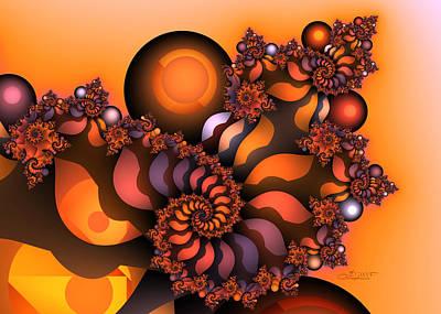 Fading Digital Art - Indian Summer by Jutta Maria Pusl