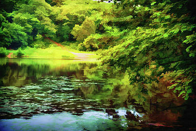 Indian Summer Lake Art Print