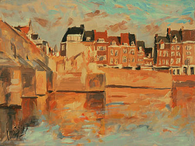 Painting - Indian Summer Light Maastricht by Nop Briex