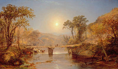 Indian Summer On The Delaware River Print by Jasper Francis Cropsey