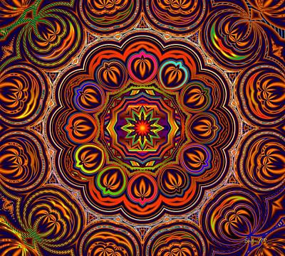 Multicolored Digital Art - Indian Summer by Robert Orinski