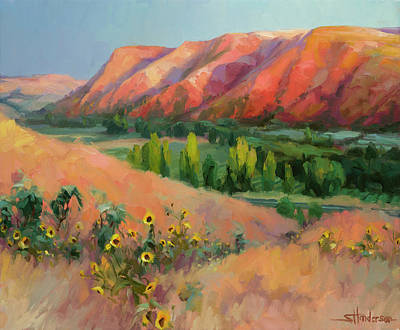 Hills Painting - Indian Hill by Steve Henderson