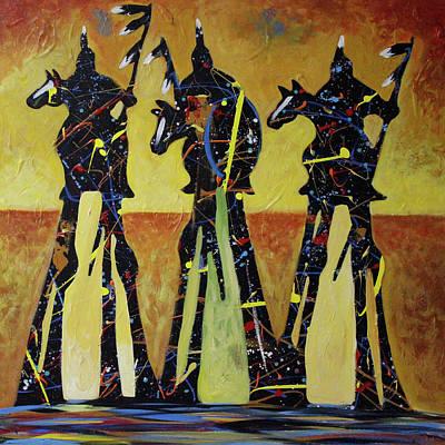 Painting - Indian Sundown by Lance Headlee