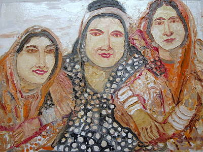 Painting - Indian Tribal Women by Anand Swaroop Manchiraju