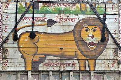 Photograph - Indian Truck Art 4 - Lion by Kim Bemis