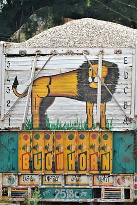 Photograph - Indian Truck Art Lion by Kim Bemis