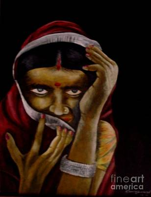 Painting - Lajjaboti by Tamal Sen Sharma