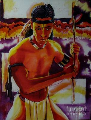 Painting - Indian Warrior by Robert D McBain