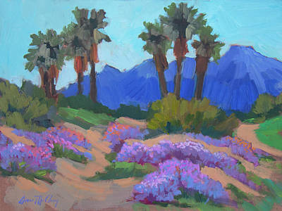 Art Print featuring the painting Indian Wells Verbena by Diane McClary