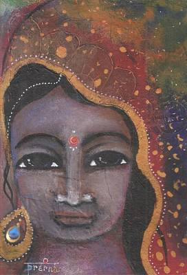Mixed Media - Indian Woman by Prerna Poojara