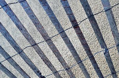 Indiana Dunes Beach Fence Art Print