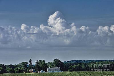 Photograph - Indiana Farm Landscape by David Arment