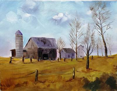 Painting - Indiana Farm by Larry Hamilton