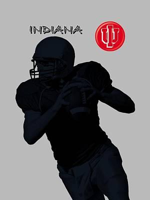 Michigan State Digital Art - Indiana Football by David Dehner