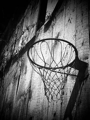 Indiana Hoop Art Print by Michael L Kimble