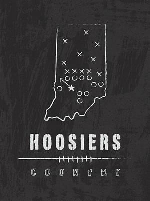 Indiana Hoosiers / Ncaa College Football Art / Bloomington Art Print by Damon Gray
