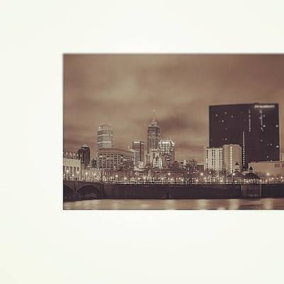 Downtown Wall Art - Photograph - #indiana #indy #indianapolis #nap Town by David Haskett II
