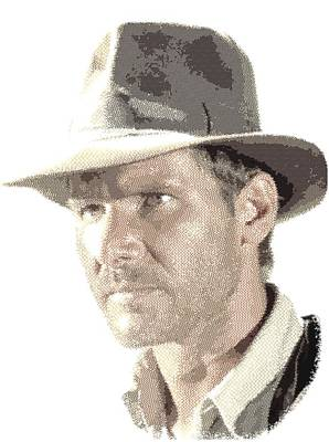 Drawing - Indiana Jones - Cross Hatching by Samuel Majcen