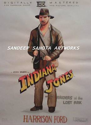 Alfred George Stevens Painting - Indiana Jones Harrison Ford by Sandeep Kumar Sahota