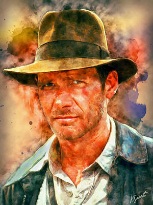 Digital Art - Indiana Jones by Kai Saarto