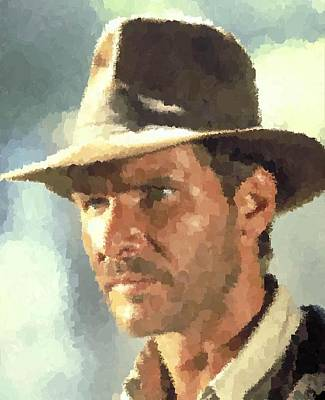 Painting - Indiana Jones Portrait by Samuel Majcen
