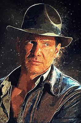 Indiana Jones Art Print by Taylan Apukovska