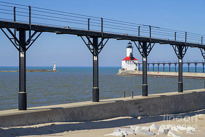 Photograph - Indiana Lighthouse And Catwalk by Ann Horn