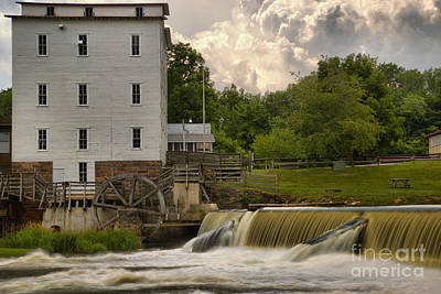 Photograph - Indiana Mansfield Mill by Adam Jewell