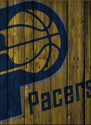 Indiana Pacers Wood Fence Art Print by Joe Hamilton