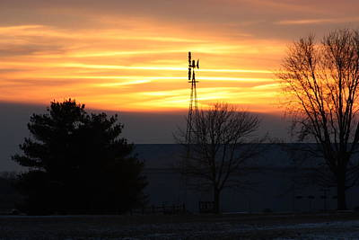 Indiana Sunset Art Print by Bruce McEntyre