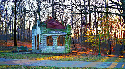 Indiana University Bloomington Old Campus Wellhouse Art Print by Paul Price