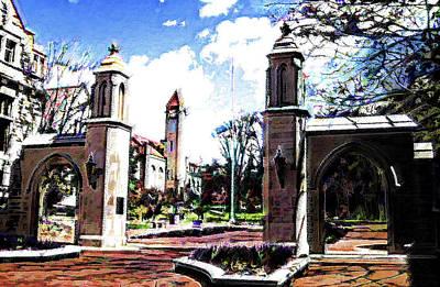 Photograph - Indiana University Gates by DJ Fessenden