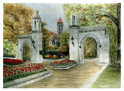 Indiana University Sample Gates Art Print by Ted Reeves