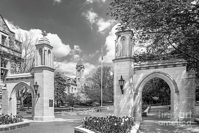 Photograph - Indiana University Sample Gates by University Icons