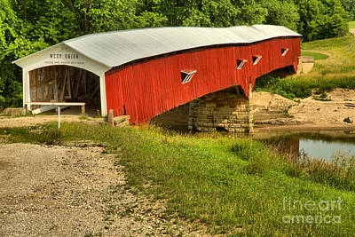 Photograph - Indiana West Union Covered Bridge by Adam Jewell
