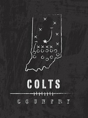 Indianapolis Colts Art - Nfl Football Wall Print Art Print by Damon Gray